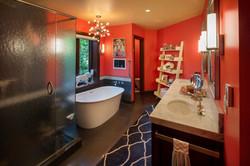 Basement Bathroom Shower & Tub