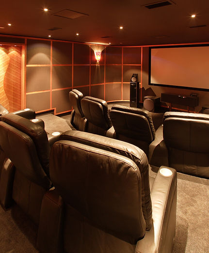 Basemet Home Theater with tiered seating