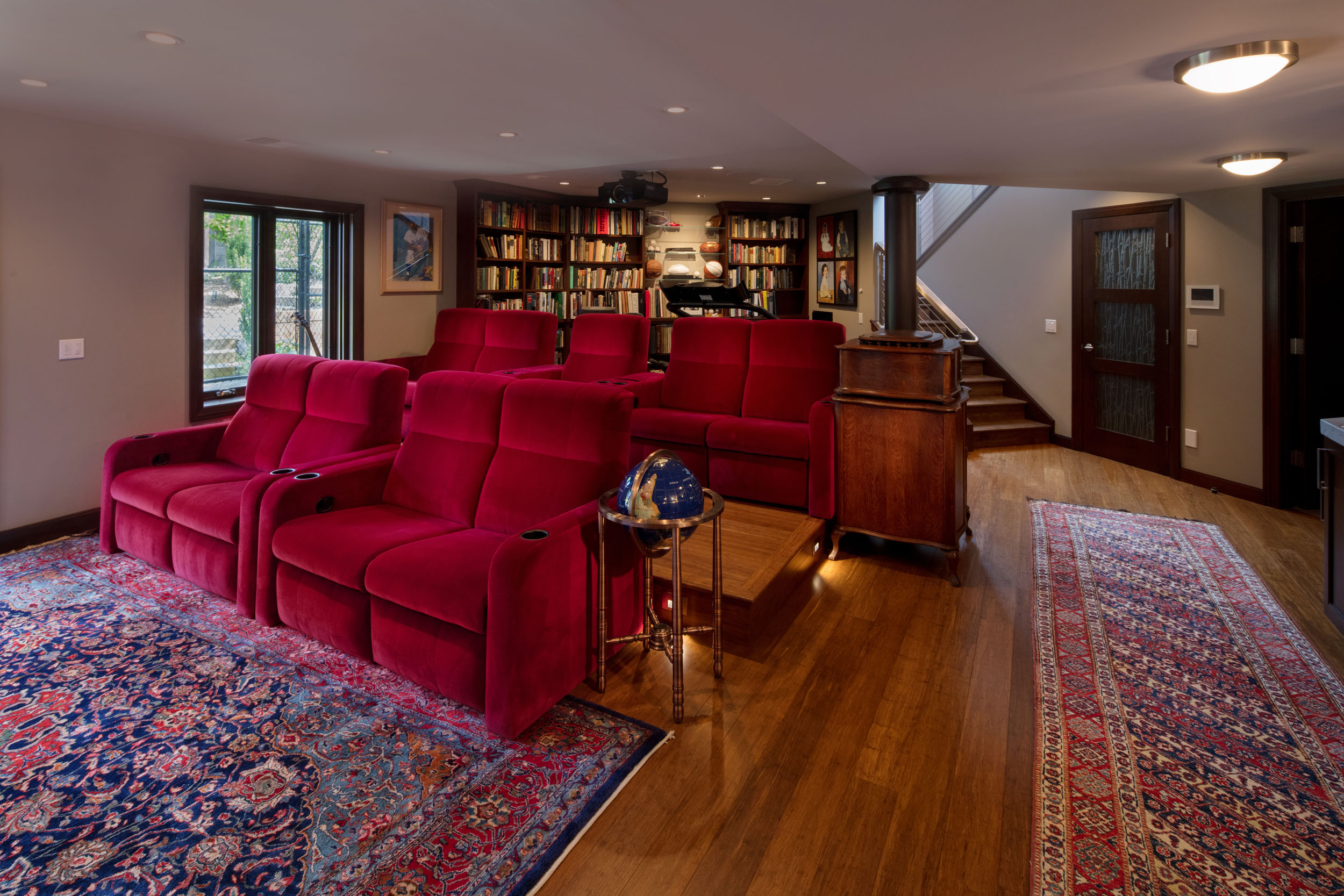 Basement Theater Seating