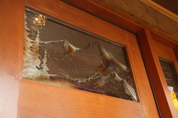 Metal art in entrydoor