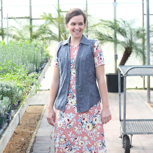 Mauve Liverpool Floral / by half yard