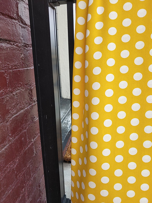 Yellow Polka Dot Bubble Crepe / by half yard
