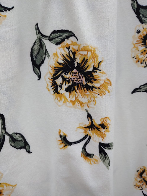 Yellow floral brushed knit / by half yard