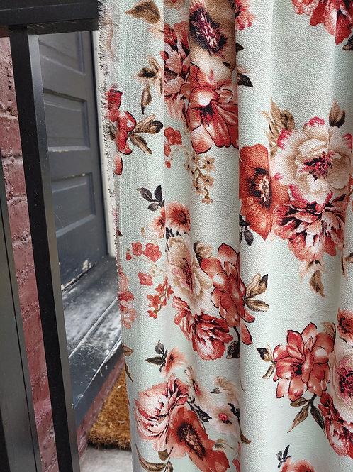 Summer Floral Bubble Crepe / by half yard