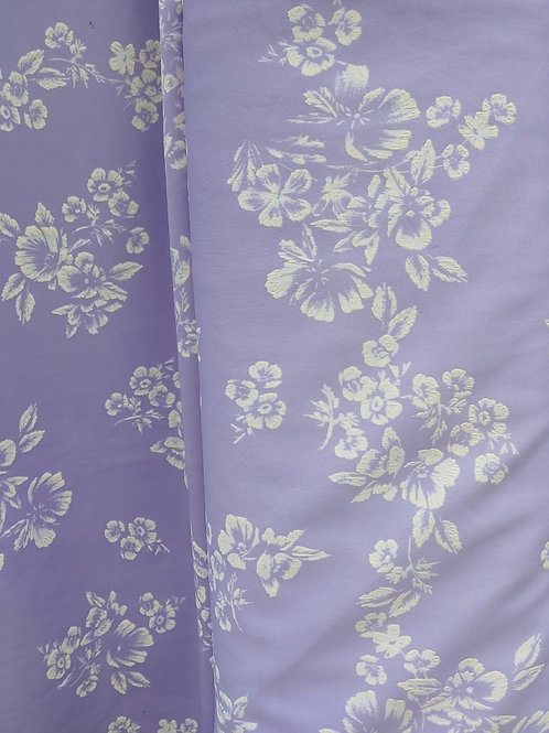 Lavender floral knit I by 1/2 yard
