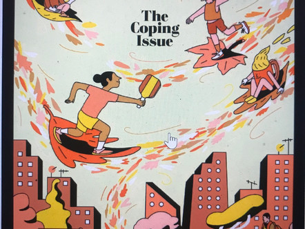 Cover of Washington Post Magazine: Self-care tips for the pandemic