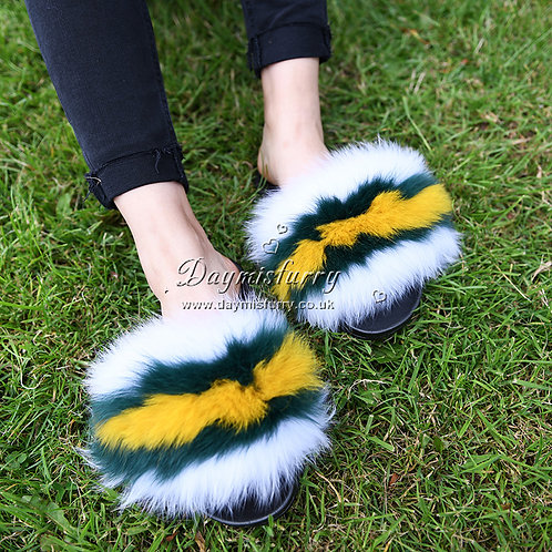 DMA99H Fox Fur Slipper