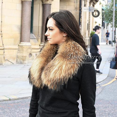 DMA76T  Raccoon Fur Scarf / Parka Fur Collar