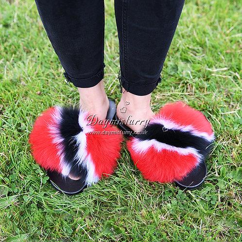 DMA99C Fox Fur Slippers