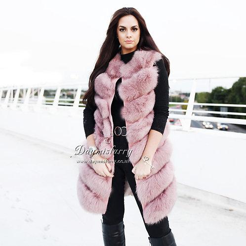 DMGB239B  Fox Fur Gilet / Real Fox Fur Jacket