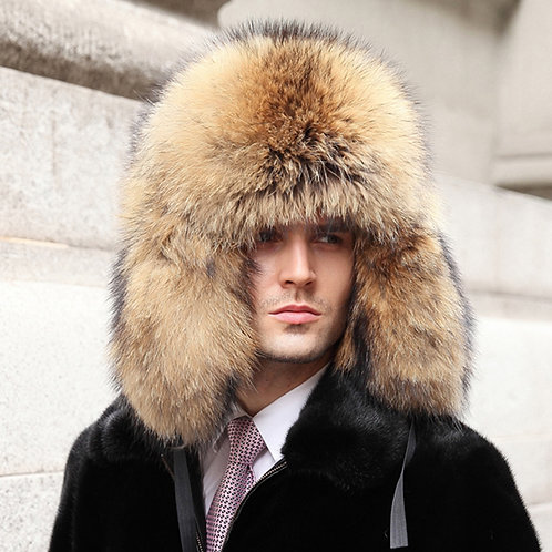 DMC219 Raccoon Full Fur Russian Hat