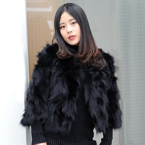 DMGA162 Chic Fox Fur Jacket