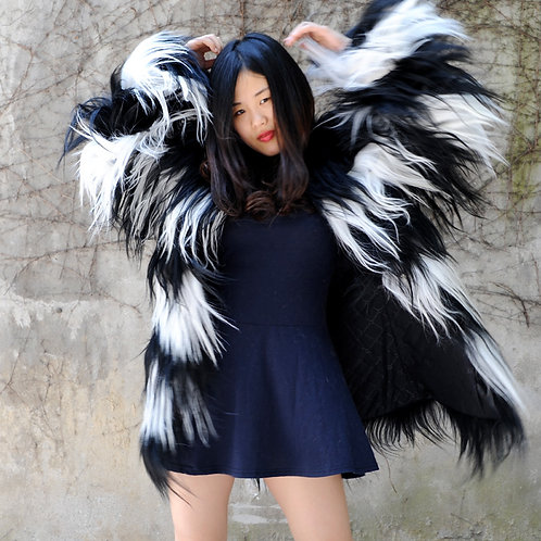 Real Goat Hair Fashion Lady Coat