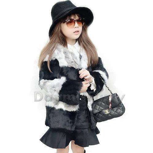 DMGC06 Cute Rabbit Fur Children's Coat