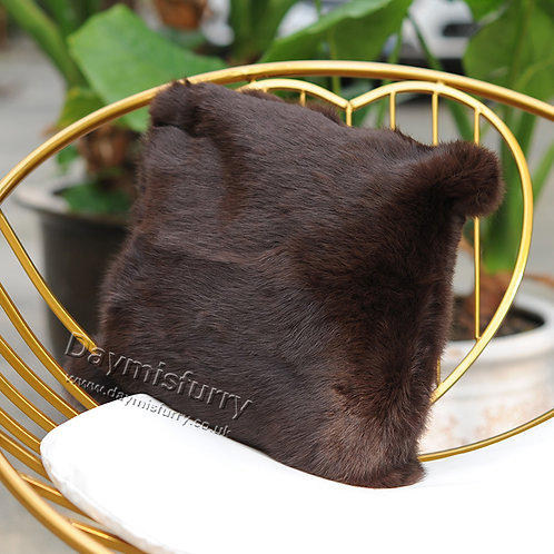 DMD05M Double Sided Rabbit Fur Cushion Cover / Pillow Case