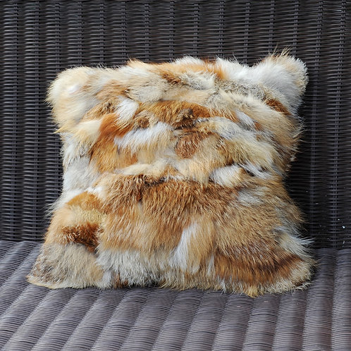 DMD69B PatchWork Red Fox Pillow in Harvest