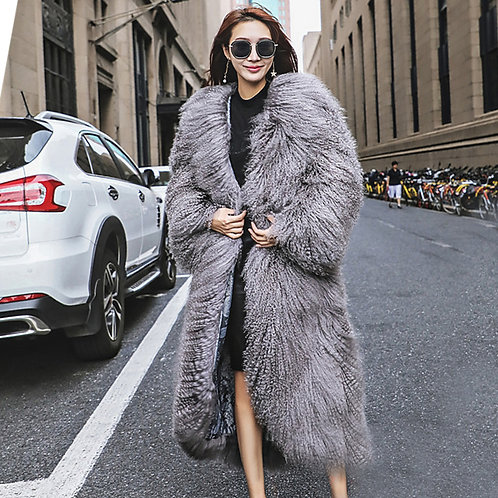 DMGA249D Mongolia Lamb Fur Long Coat