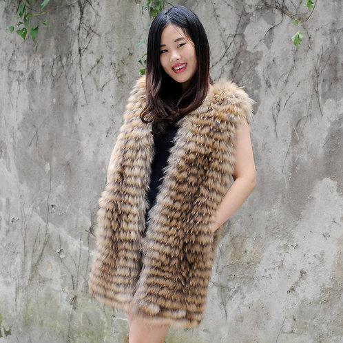 DMGB100 Genuine Finn Raccoon Fur Gilet