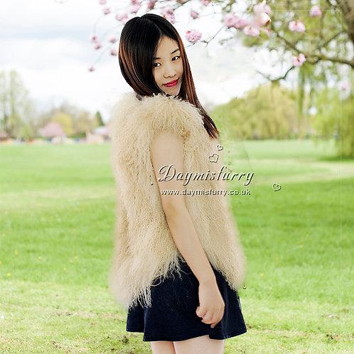 DMGB09B Mongolia Lamb Fur Vest