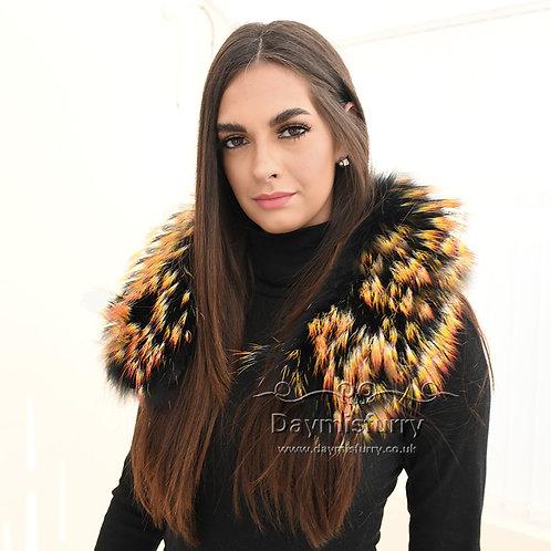 DMA102E Raccoon Fur Collar / Raccoon Fur Trim Hood / Parka Collar