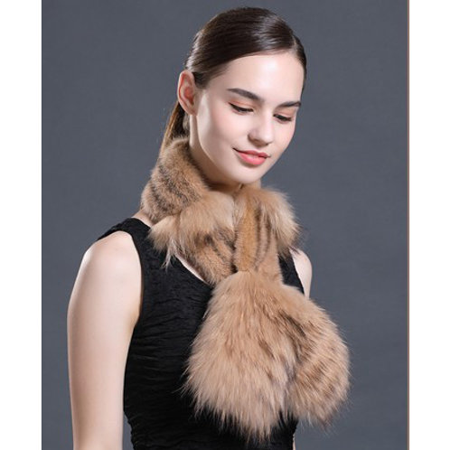 DMS101A Mink and Raccoon Fur Scarf