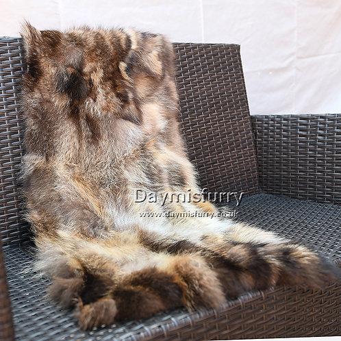 DMD49B Raccoon Fur Rug / Sofa Throw