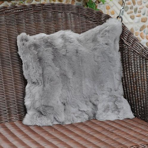 DMD27A Pieced Rex Rabbit Fur Pillow