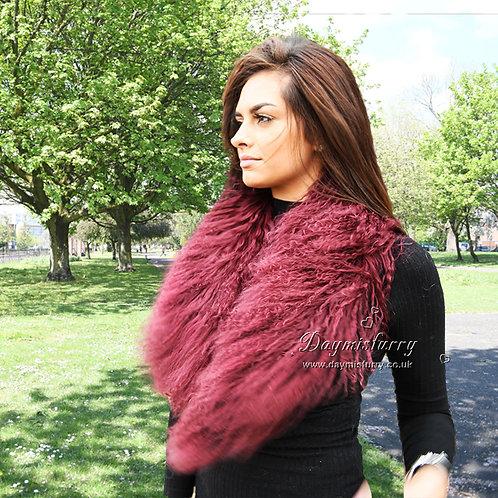 DMA52N Detachable Mongolian Lamb Fur Collar