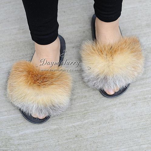 DMA97A Red Fox Fur Slide - Natural Colour
