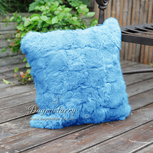 DMD28D Dyed Pieced Rabbit Fur Pillow Cover
