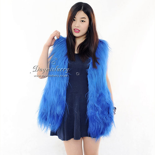 DMGB67 Genuine Goat Fur  Gilet