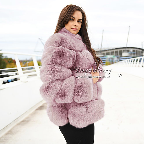 DMGA121G  Fox Fur Coat