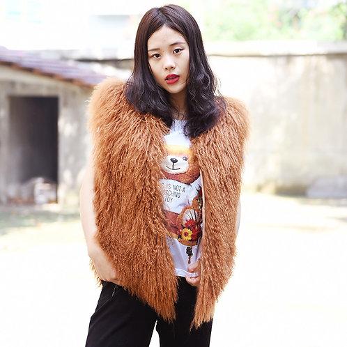 DMGB09  Mongolia Lamb Fur Vest