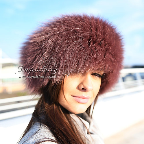 DME17B Fox Fur Headband / Neck Warmer