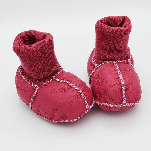 DMA80A Sheepskin baby Shoes with Sheepskin Sole