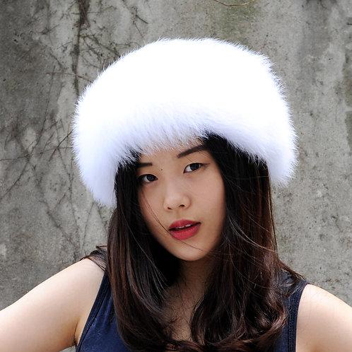 DME17G  Fox Fur Winter Headbands / Neck Warmer Hair Accessory