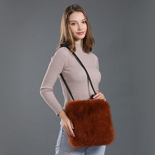 DMH10B Fox Fur Shoulder Bag / Handbag / Fur Bag