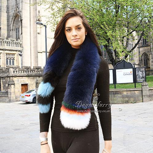 DMS10C Detachable  Fox Fur Scarf
