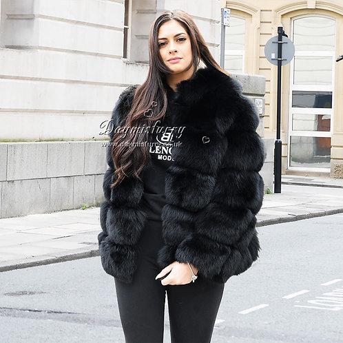 DMGA114E Extremely luxury Fox Fur Jacket