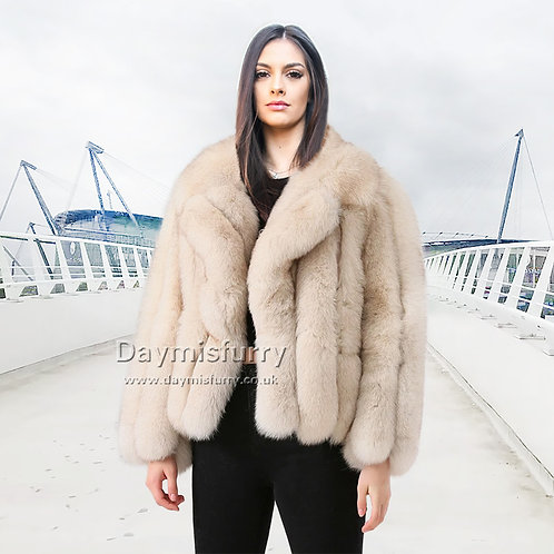 DMGA264 Layered Fox Fur Winter Autunm Jacket