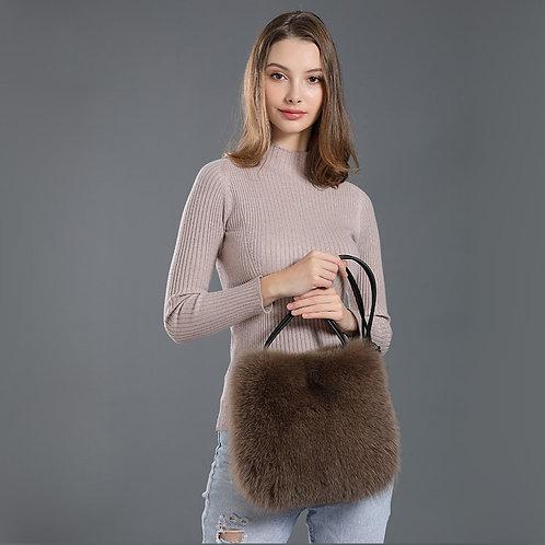 DMH10A Fox Fur Shoulder Bag / Handbag / hand Bags