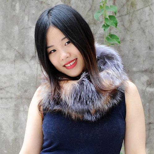 DMS183A Luxe Fox Fur Snood Scarf