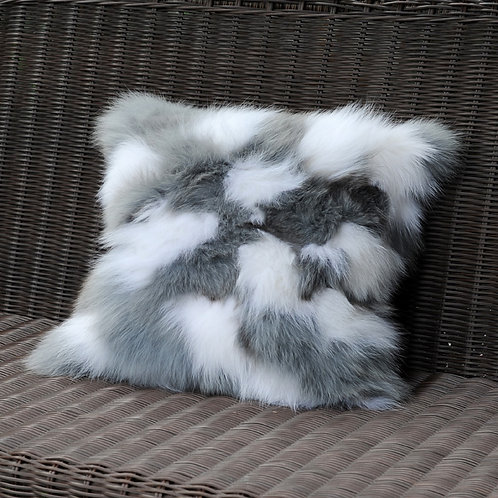 DMD33D PatchWork Fox Fur Pillow