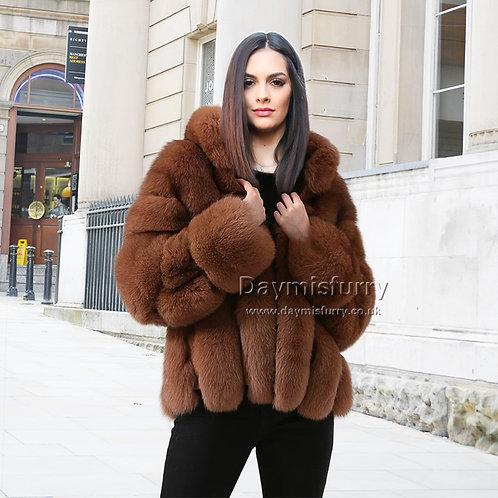 DMGA68 Layered Fox Fur Jacket
