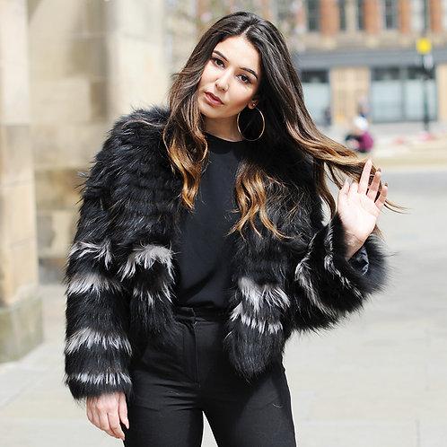 DMGA47  Raccoon Fur Jacket