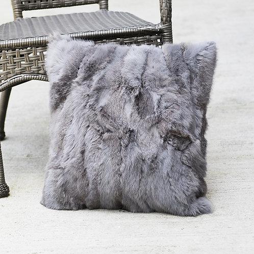 DMD17D Dyed Pieced Rabbit Fur Pillow