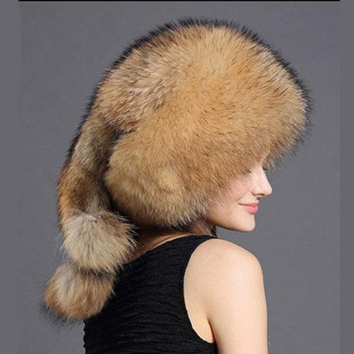 DMC176A Trendy Looking  Raccoon Fur Hat
