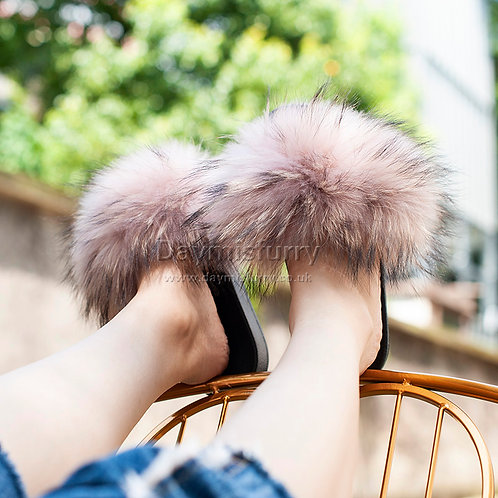 Raccoon Fur Slides
