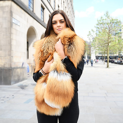 DMB20 Extremely Luxury Red Fox Fur Stole