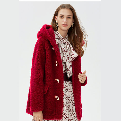 DMGT18B  Wool Loose Winter Cardigan / Hooded Jacket